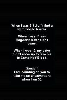 Chronicles of Narnia, Harry Potter, Percy Jackson, The Hobbit