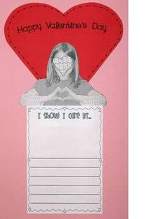 Valentine's Day writing activity~ Includes lesson visuals for the history of Valentine's Day and defining a valentine plus prewriting organizers