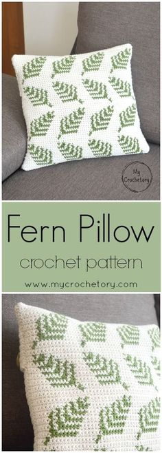 Make your own delightful crochet Fern Pillow with a beautiful botanical motif. In a quick way brighten up your living room or give someone you love as a gift. This crochet pillow is easy to make and the pattern includes colors graph and full written instruction.