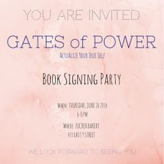 You are invited to an Inspirational discussion about transformation at Zucker Bakery!!! Ms. Bachar will read excerpts from her book Gates of Power: Actualize Your True Self. There will be discussions, signings, and goodies so don't miss out!