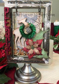 Claudine's Art Corner: Tim Holtz Flip Frame Christmas Display