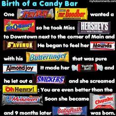 Candy Bar Birthing ... A linear progression...
