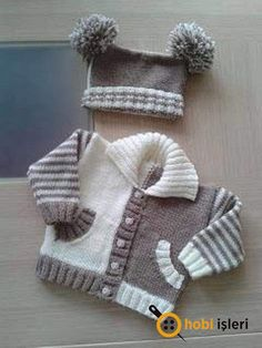 "Baby Knitting Patterns Sweter Too cute [ ""Fun color combo Knitting Patterns Boys, Knitting For Kids, Crochet For Kids, Baby Patterns, Crochet Baby, Free Knitting, Knitting Projects, Knit Crochet, Baby Sweater Patterns"