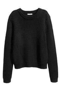Knitted jumper: Jumper knitted in a cotton blend.