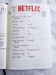 A bullet journal is a fantastic and fluid way to keep your life organized. It's a planner, journal, to do list, and so much more. Read now or Pin for later. Bullet Journal Spreads, Bullet Journal Flip Through, Wreck This Journal, My Journal, Bullet Journal Inspiration, Journal Prompts, Journal Pages, Journal Ideas, Bullet Journal Netflix