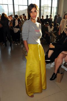 princess deena yellow skirt zero maria cornejo spring 2016 show