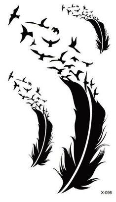 24 designs Waterproof Temporary Tattoo sticker ear music note birds henna tatto stickers flash tatoo fake tattoos for women men #TattoosforMen