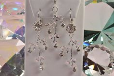 Swarovski Crystal and Silver Leaf Matching Necklace by Gemsicles