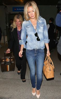Kate Hudson knows how to make a Canadian tuxedo work.