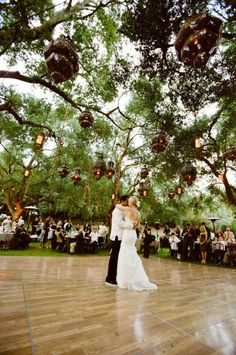 I WILL have an outdoor wedding reception and the dance floor WILL look like this.