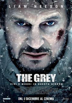 THE GREY - Liam Neeson - poster italiano