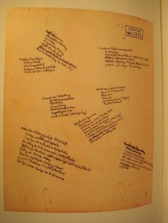 """Themes for """"Charles Baudelaire"""". Manuscript page. Walter Benjamin's Archive."""