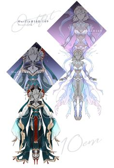 By on deviantart. Drawing Anime Clothes, Dress Drawing, Clothing Sketches, Dress Sketches, Fantasy Gowns, Anime Dress, Fashion Design Drawings, Anime Costumes, Themed Outfits