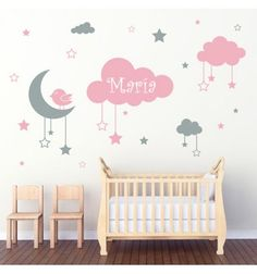 33 Adorable Nursery Room Ideas For Baby Girl. You just found out that you're having a baby girl, and don't know where to start when it comes to designing the nursery? Baby Bedroom, Baby Room Decor, Nursery Room, Girl Nursery, Girls Bedroom, Room Baby, Kids Bedroom Designs, Baby Room Design, Nursery Themes