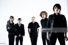 My Chemical Romance posed in London on November 05 2005. L - R Mikey Way, Frank Iero, Bob Bryar, Ray Toro, Gerard Way