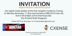 Cxense Experience Singapore, Nov. 17 2014 Digital Media, Rsvp, Singapore, Highlights, Reception, Cocktails, Invitations, Craft Cocktails, Luminizer