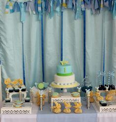 Baby Mickey birthday party! See more party ideas at CatchMyParty.com!