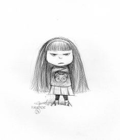 """Pencil drawing by Carter Goodrich. Character sketch for """"Animal Crackers."""""""