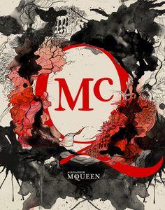 Mixed Media Illustrations designer brands by Daryl Feril - Chicquero - Alexander Mcqueen