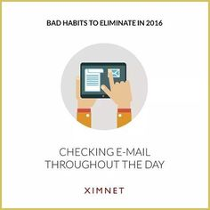 #2: Checking email throughout the day  Constant internet access can also lead people to check email throughout the day. Sadly, each time you do this, you lose up to 25 minutes of work time.  What's more, the constant checking of email makes you dumber. The next time you want to refresh your mailbox, think again.  #growth #productivity #success #positivevibes