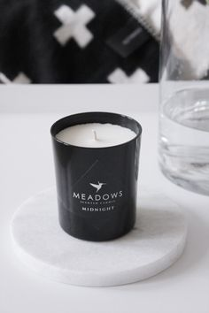 MA MAISON BLANCHE - Meadows scented candle, Pia Wallén Cross Blanket & White Lily marble