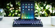 The Qwerkywriter is an 84 key, USB, Bluetooth enabled, typewriter-inspired mechanical keyboard that simulates a tactile clicky feel of a vintage typewriter.