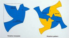 """This is an example of a more complex tessellation pattern - """"rotation"""" template."""