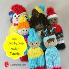 FREE Loom Knitting Pattern Comfort Dolls aka Izzy by LoomaHat