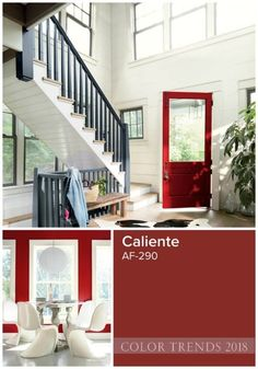 Benjamin Moore 2018 Color of the Year is Caliente.should I paint interior doors?