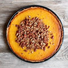 Pumpkin Pie With Candied Pecans via @feedfeed on https://thefeedfeed.com/pumpkin-pie/mrsflury/pumpkin-pie-with-candied-pecans