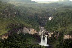 Vista do do salto do Rio Preto, no Parque Nacional da Chapada dos Veadeiro