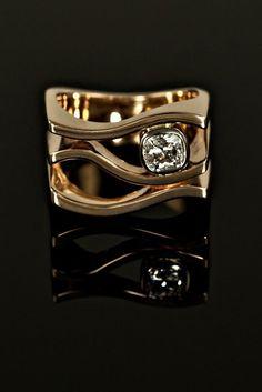 Custom Designed Diamond Ring \nNeeds to be platinum not yellow gold.