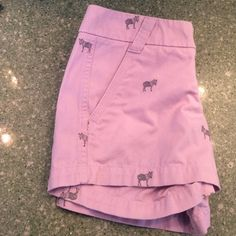 Lilac J.Crew Shorts Beautiful and totally fun!! They have zebras on them and they are NWOT!!! Never worn! J. Crew Shorts