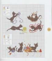 "Gallery.ru / NINULYKA - Альбом ""Les chats au point de croix"""