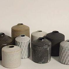 A new collection of miniature vases by Mizuyo Yamashita.