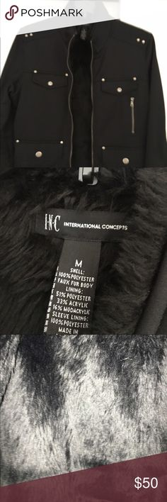 INC Men's lined faux fur lined jacket! Stylish jacket with faux fur lining to be worn with jeans or dress pants. Purchased for my son who never wore it. This is basically new without tags! FIRM ON PRICE!!! INC International Concepts Jackets & Coats Bomber & Varsity