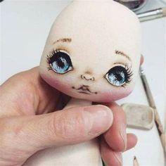 Doll Face Paint, Doll Painting, Doll Crafts, Diy Doll, Sewing Dolls, Doll Eyes, Soft Dolls, Cute Dolls, Fabric Dolls