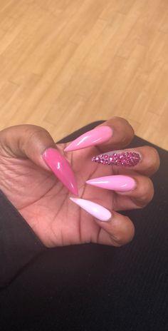 Fancy Nails, Trendy Nails, Pink Acrylic Nails, Gel Nails, Fire Nails, Gorgeous Nails, Long Nails, Nails Inspiration, Beauty Nails