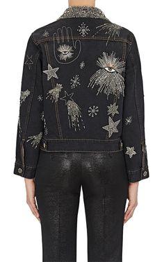 Isabel Marant Eloise Embellished Denim Jacket - 40 Fr Grey