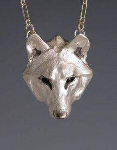 Handcrafted Silver Jewelry Wolf Jewelry Pendant, Animal Totem Jewelry.  $245.00