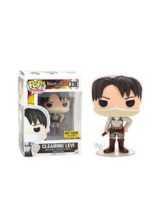 Funko Attack On Titan Pop! Animation Cleaning Levi Vinyl Figure Hot Topic Exclusive,