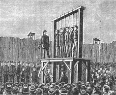 Hanging of the six condemned Andersonville Raiders