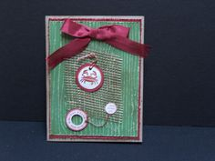 A Holiday Hello Christmas card handmade with by TheLanguageofPaper, $4.50