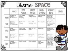 Tons of interesting space themed activities and ideas perfect for tot school, preschool, or the kindergarten classroom.