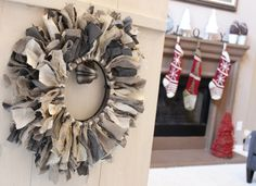 There is something about December that gets my crafty hands busy. Decoration ideas that I've had over the past year now have an excuse to take form. This tie wreath is one of them. We had an old...