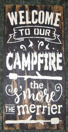 Welcome to our campfire.......... Wall Plaque by hilltopprims