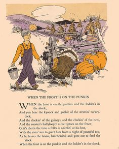 """When the Frost is on the Punkin"" by katinthecupboard, via Flickr  Love these old poem books!!!!'m"