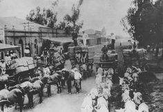 Early Rhodesia, with the well known , trading wagons, one of the reasons for Bulawayo's wide streets. 11th Century, Great Life, Zimbabwe, Present Day, Family History, South Africa, The Good Place, Safari, Birth