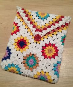 Hæklet Granny Ipad cover – Cand.selv