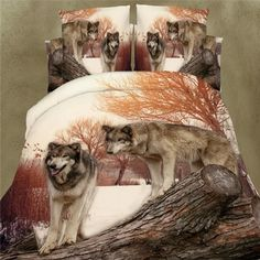 3d printed wolfs animals cotton bedding sets 4pcs duvet quilt bed covers for queen size bedclothes comforters bedsheet. Starting at $44
